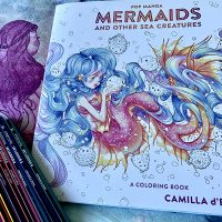 """Let """"Mermaids and Other Sea Creatures"""" Charm You in Camilla d'Errico's Colouring Book"""